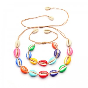 WENZHE latest design drop oil colorful natural shell bracelet for women