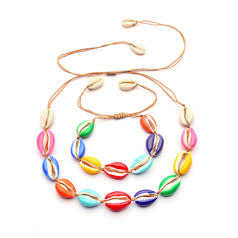 WENZHE latest design drop oil colorful natural shell bracelet for women Featured Image