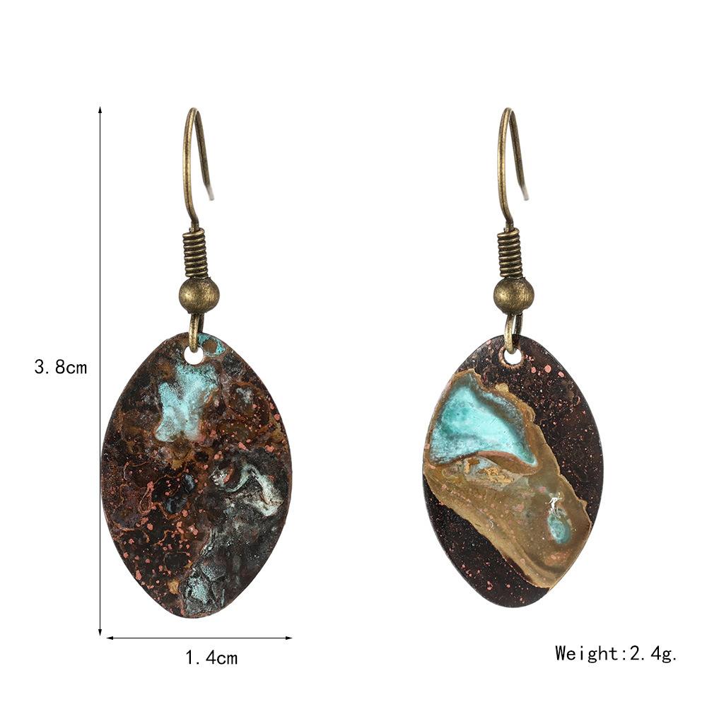 Handmade-geometric-small-round-pie-patina-earrings (1)
