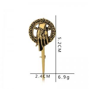 Popular Movie Game Of Thrones Gold Alloy Sceptre Brooch