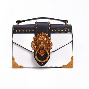 Lion Head Metal Fashion Mini Shoulder Bag Small Square Package Crossbody HandBag