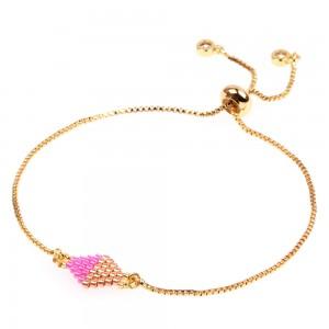 Japanese Miyuki DB Glass Seed Bead Quadrilateral Bracelet Jewelry