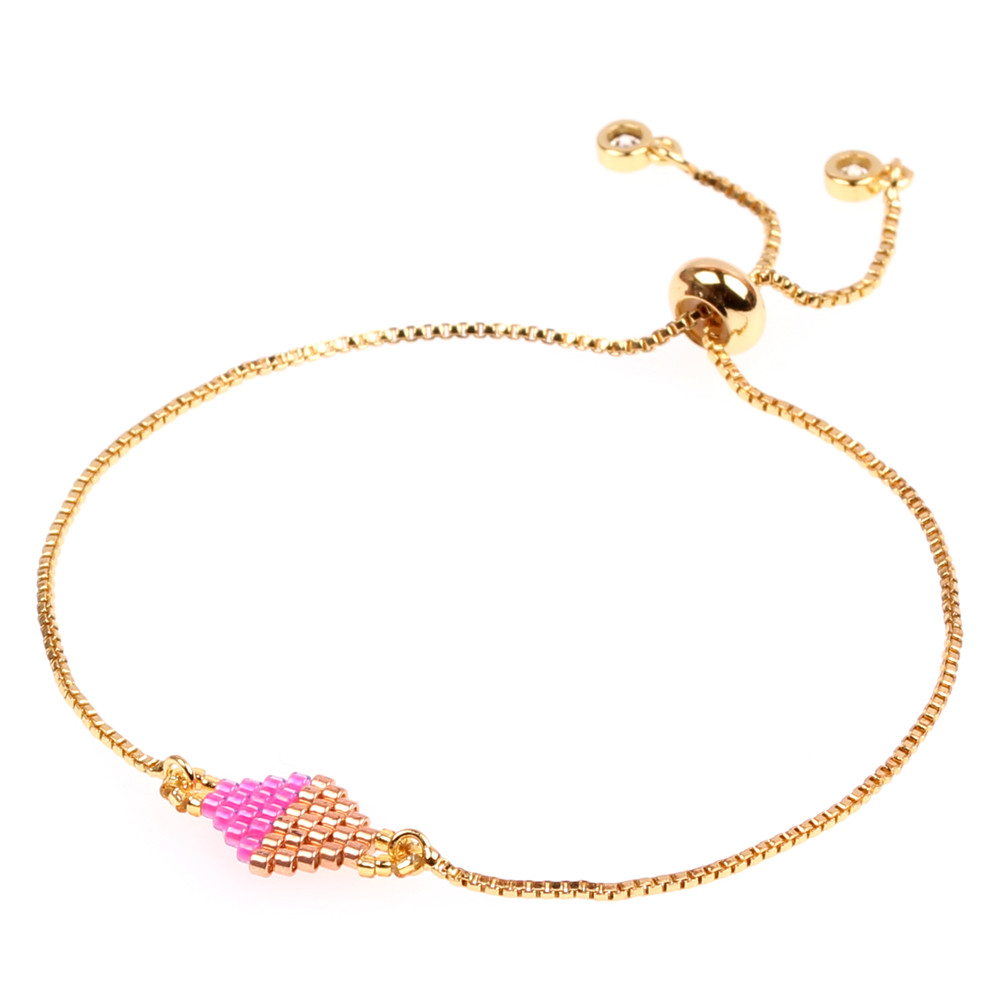 Japanese Miyuki DB Glass Seed Bead Quadrilateral Bracelet Jewelry Featured Image