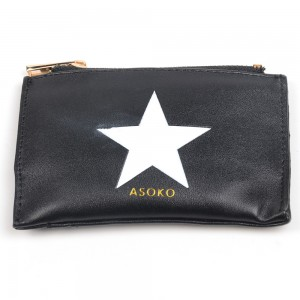 WENZHE Star Black PU Leather Handbags
