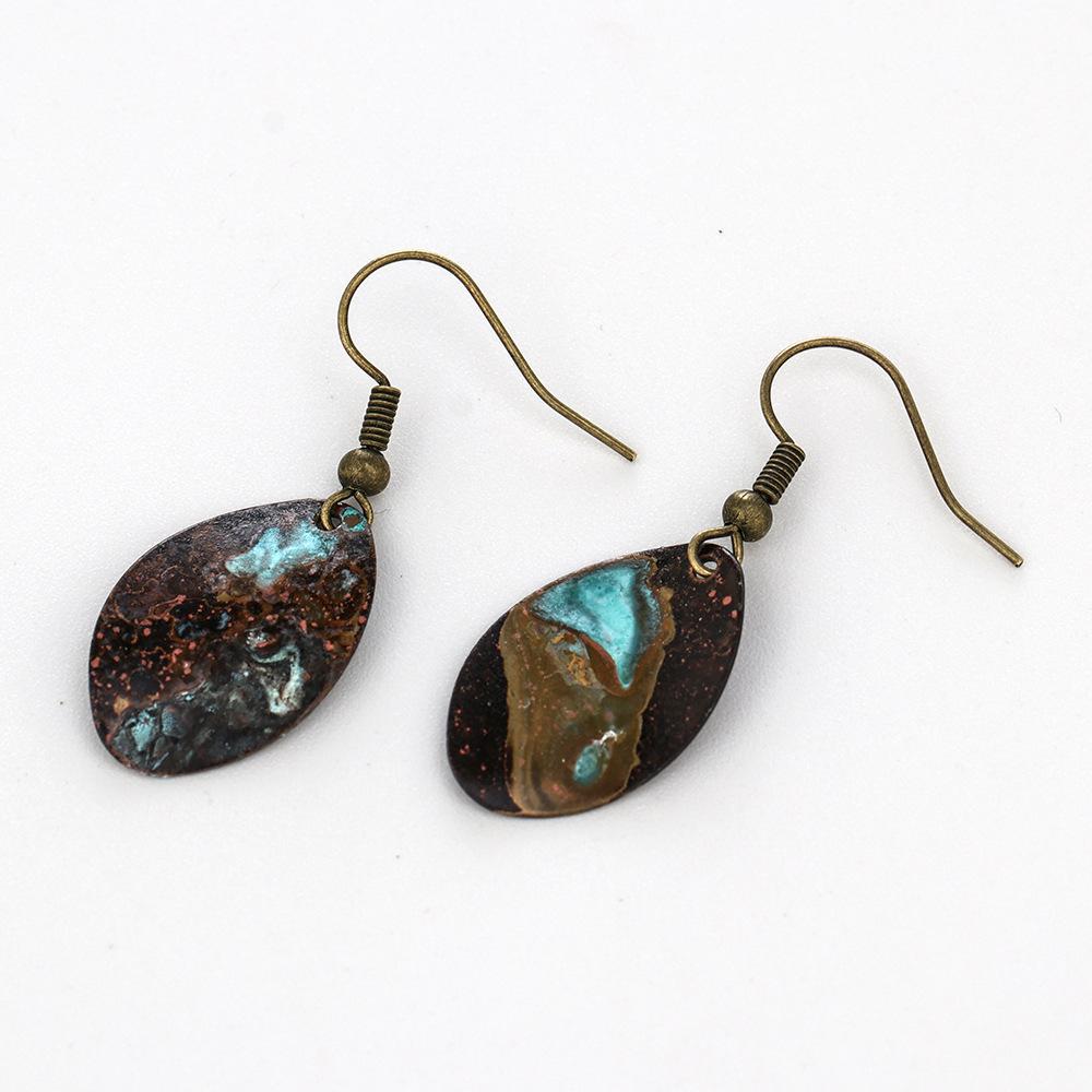 Handmade-geometric-small-round-pie-patina-earrings (3)