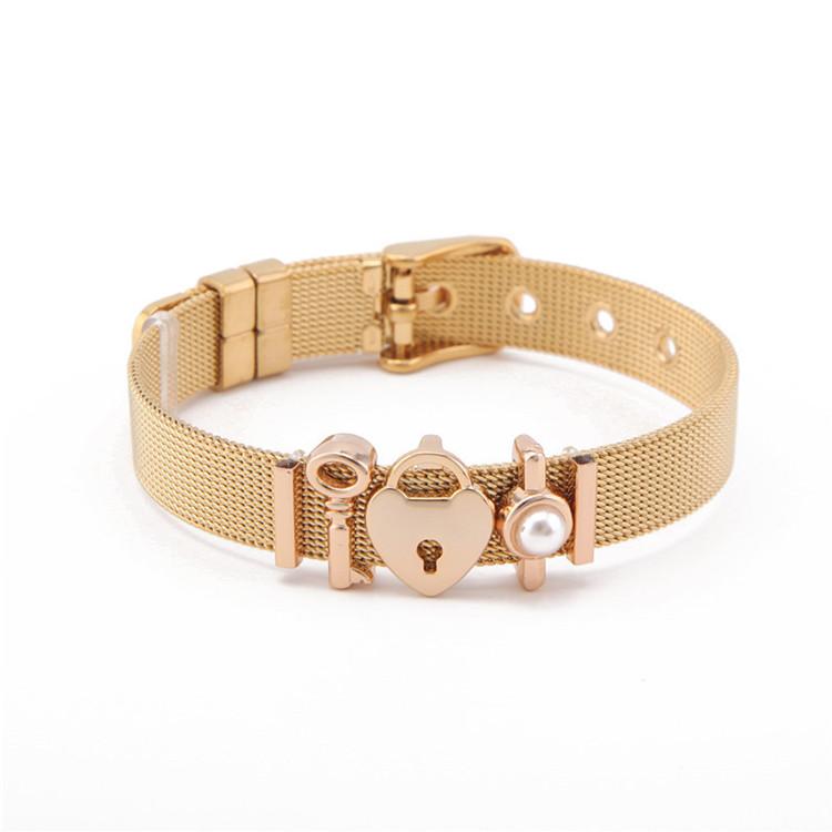 Hot Sale Stainless Steel Bracelets Lock Charms Keeper Bracelet Featured Image