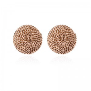 New Hot Sale Vintage Style Statement Jewelry Gold Round Stud Earrings For Christmas gift