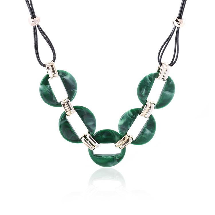 Fashion-colorful-acrylic-pendant-necklace-wax-line (2)