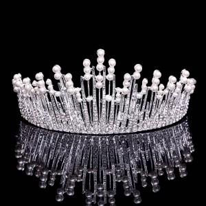 Fashion Wedding Rhinestone Crown,Rhinestone Pageant Wedding Tiara