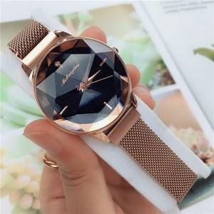 Fashionable wrist strap geneva quartz luxury women watch