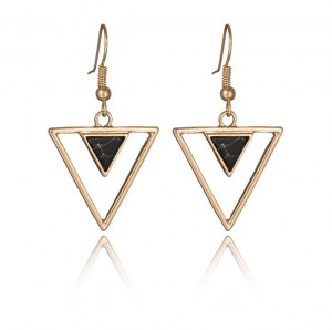 Inlay Triangle Shape Turquoise Metal Base Custom Earring Jewelry Wholesale China