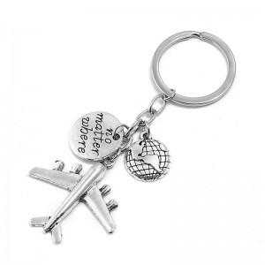WENZHE Fashion creative custom gift metal airplane keychain jewelry accessories