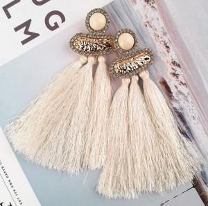 Boho style handmade long tassel women vintage fashion jewelry drop earrings