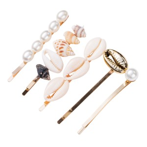 WENZHE Latest Fashion Sea Beach Style Pearl Shell Hairpin Sets