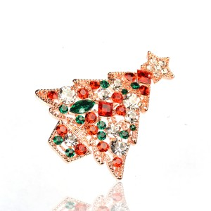 WENZHE Christmas Brooch Creative Gift Set Diamond Brooch Beautiful Christmas Tree Suit Brooch Accessories