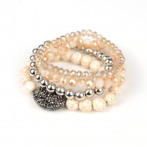 European Style Magnetic Handmade Stone MultiLayer Bracelet Bead Bracelet Jewelry for Women