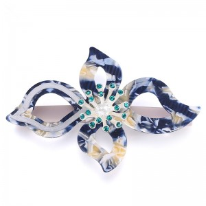 New Design Big Flower Bridal Hair Accessories Fashion Girls Design Acrylic Hair Clip For Women