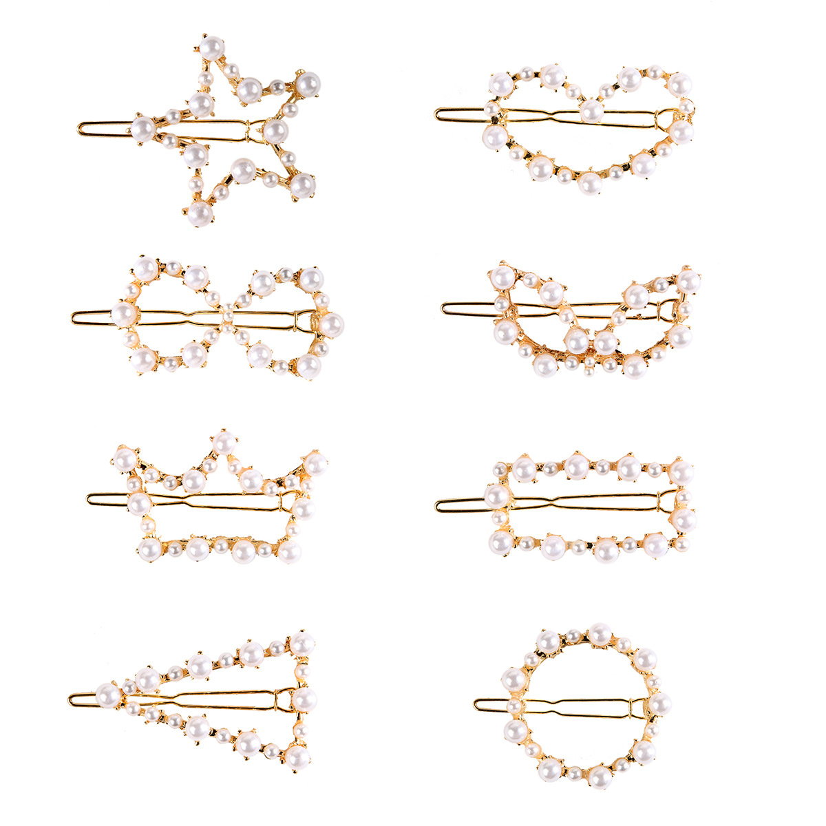 WENZHE Fashionable Pearl Hair Clip Gold Hair Pin Set Jewelry Women Girls Birthday Gift Set Bobby Pin Hair Accessories Featured Image