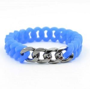 America jewelry eco-friendly wristbands twist rubber silicone bracelets
