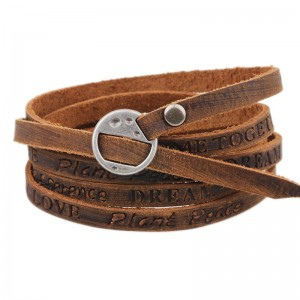 Fashion Simple Jewelry Leather Bracelet Men Casual Personality Vintage Bracelet