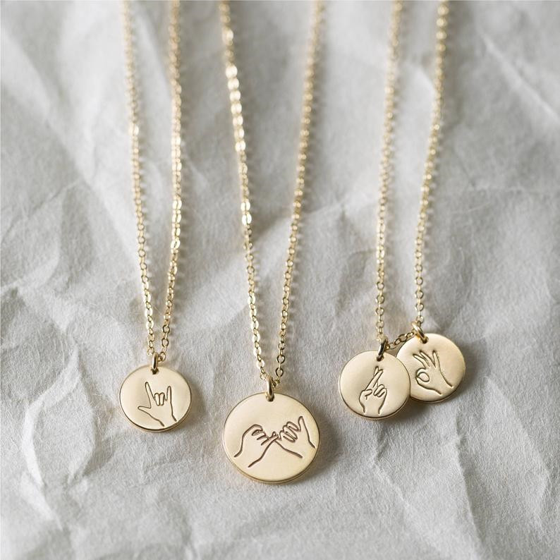 Sister Gifts Best Friend Necklaces  Hand Gestures Necklace Cool Gift Ideas for Daughters  Fun Gifts for Awesome Ladies Featured Image