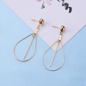 Latest product in market gold earring designs waterdrop geometry charm earring