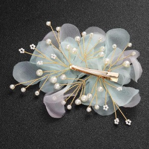 New style fashion women's bride petals pearl hair comb hair clip two-piece headwear