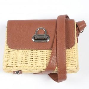 WENZHE Fashion Hand-woven Rattan Bag Summer Straw Shoulder Bags Women Handbags Beach Bag