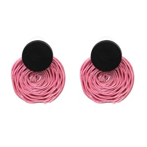 Factory direct handmade silk thread winding earrings European and American personality fashion jewelry