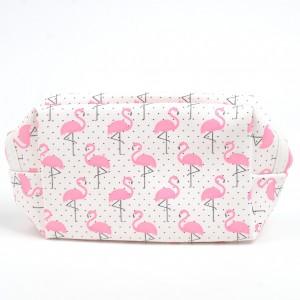Geometric Flamingo PU Cosmetic Makeup Toiletry Bag