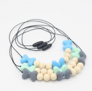 Baby Necklace Jewelry Nursing Teether Chewing Bead Mom Gift Silicone Teething Necklace for Mom