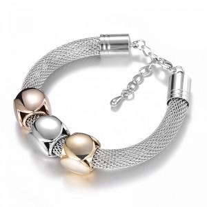 Personalized Titanium Steel Luxury Mesh Geometric Adjustable Bracelet