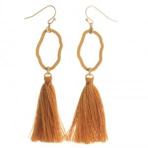 WENZHE New Arrival Geometric Metal Tassel  Earrings Fashion Jewelry For Women
