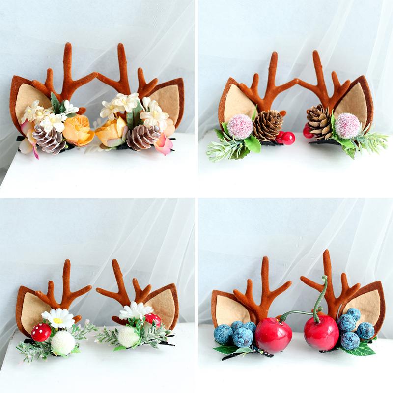 Fashion-Design-Handmade-Antler-Hairclips-Christmas-Deer (1)