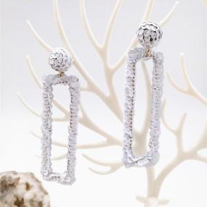 Latest Geometric Earring White Sequin Trendy Earring for Women