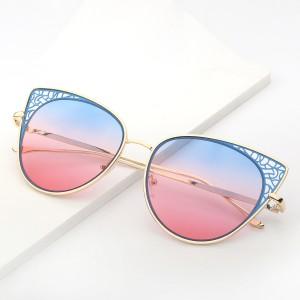 WENZHE Fashion Sunglass Metal Frame Sunglass Round Sunglasses Women
