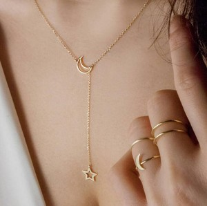 Star Necklace Simple Fashion Moon Clavicle Chain Exquisite Necklace