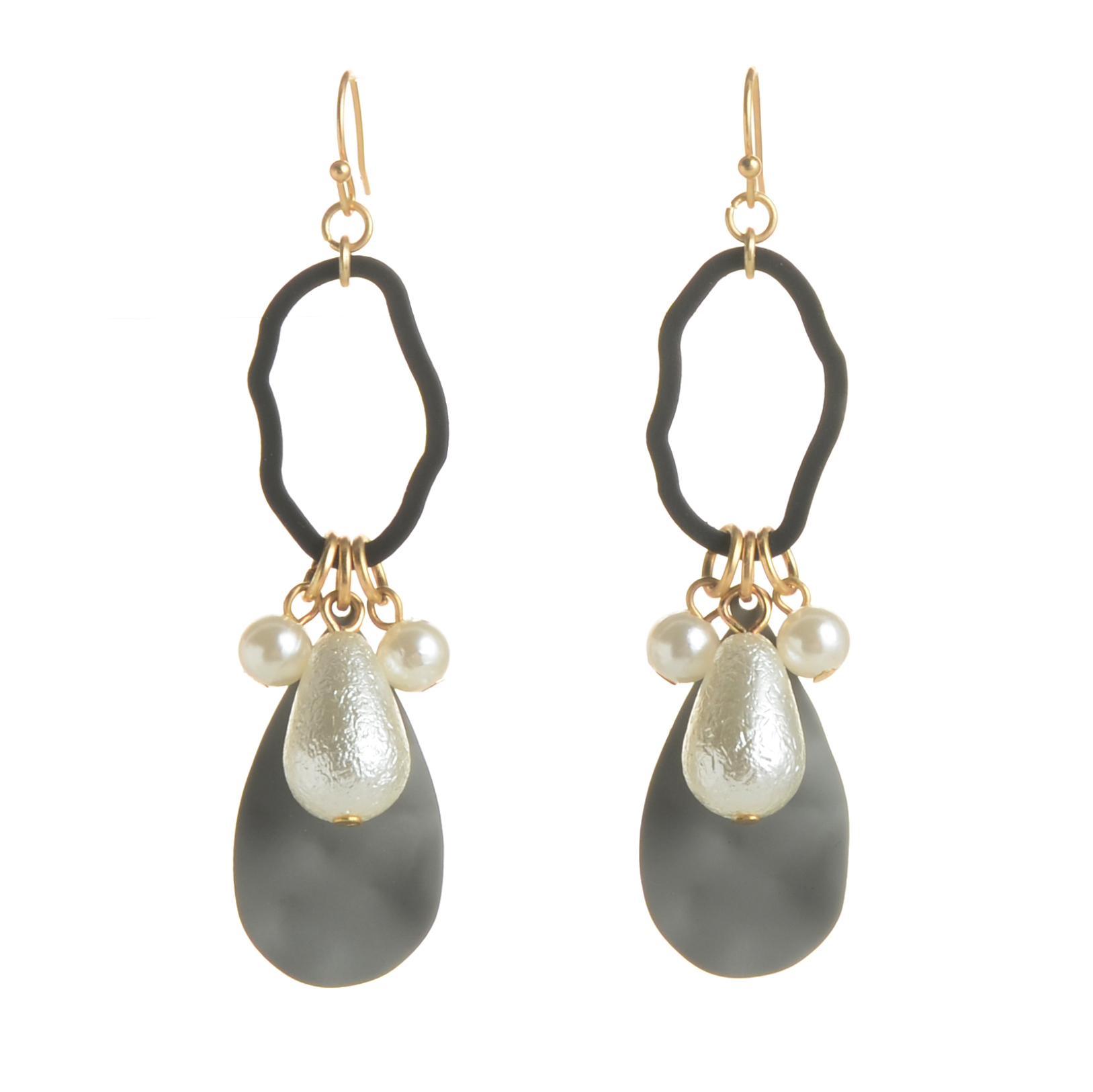 WENZHE Newest Designs Geometric Acrylic Pearl Dangle Earring Featured Image