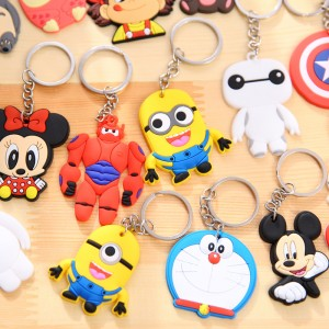 Cartoon anime Mickey Mouse Rubber Keychain