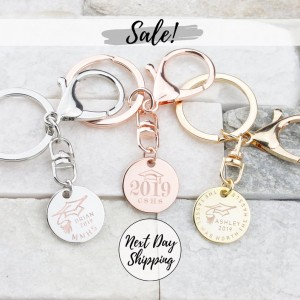 Graduation Keychain Class of 2019 Key Chain Gift Custom Keychain Sorority Graduation Gift College Graduation High School Grad College Grad