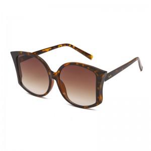 WENZHE Custom Women Big Frame Fashion Glasses Leopard Sunglasses