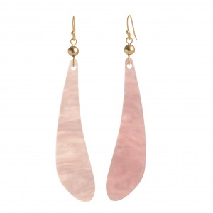 WENZHE New Style Women Jewelry Pink Color Acrylic Geometric Earrings