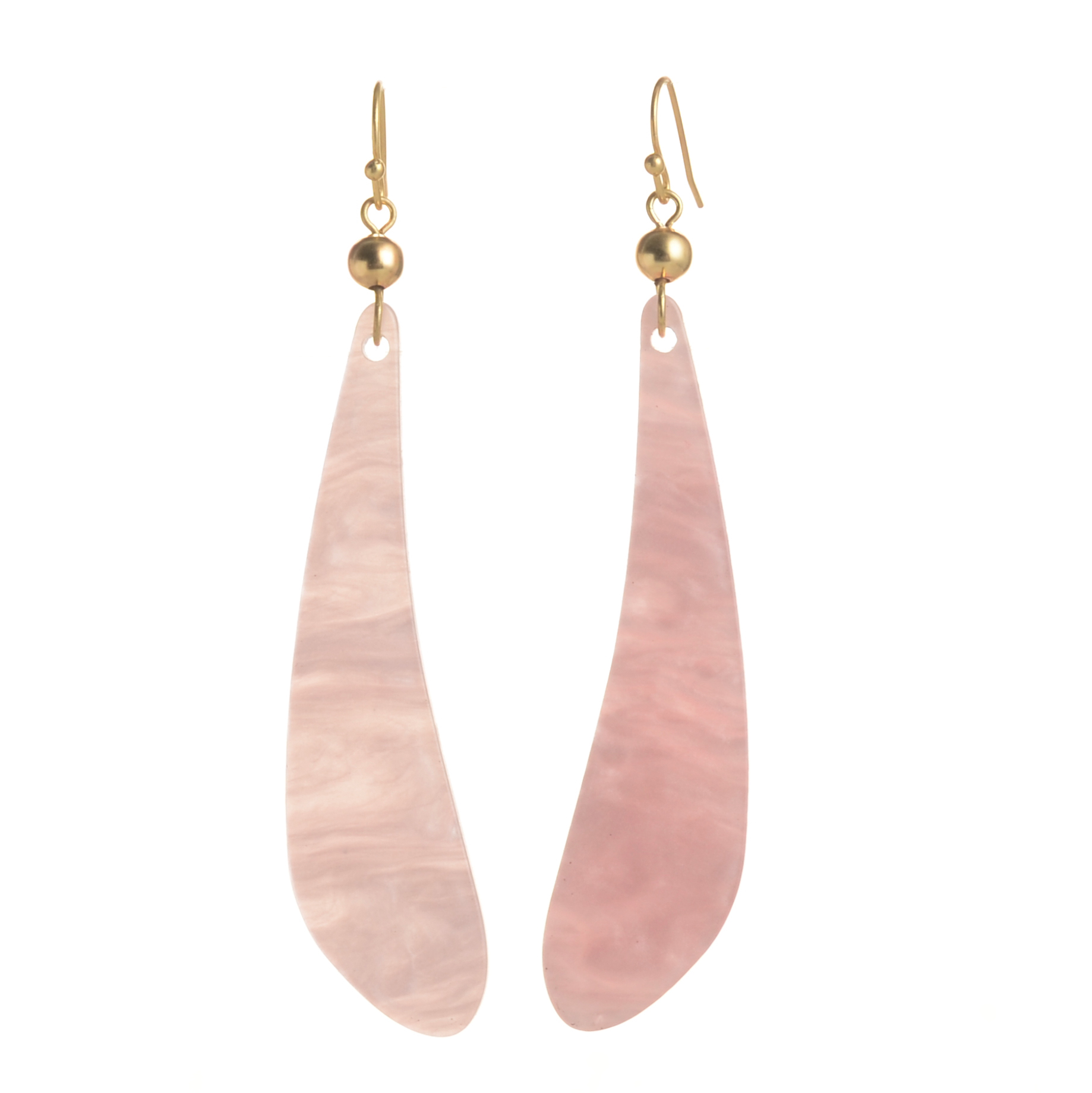 WENZHE New Style Women Jewelry Pink Color Acrylic Geometric Earrings Featured Image