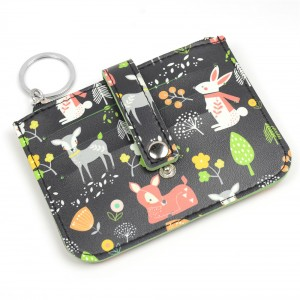 WENZHE Wholesale Zipper Animal Printed Coin Wallet Custom Coin Purse
