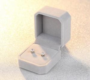 Wholesale rectangle shape velvet gift earring jewelry packaging box