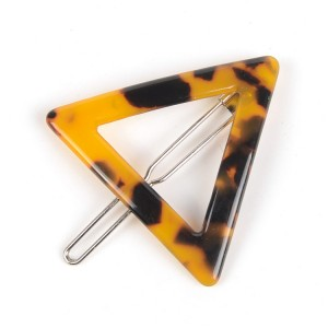 WENZHE Acetate Triangle Geometric Barrettes Jewelry Girls Hairpin