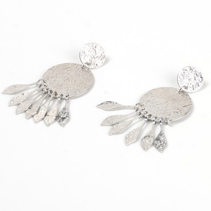 Latest Indian Style Alloy Silver Plated Tassel Drop Earring