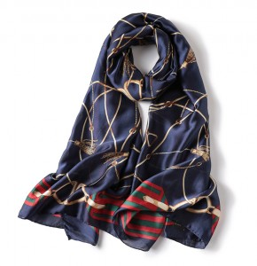 WENZHE Fashion Ladies Women Scarf Silk Summer Head Scarf For Hair Ladies Silk Floral Head Scarves
