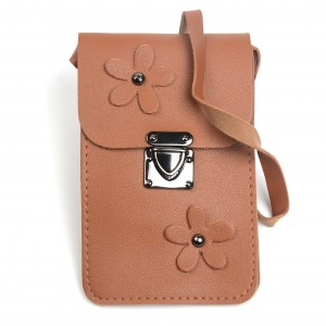 WENZHE Cell Phone Pocket Purse Shoulder Bag Pouch Flower Leather Case Bag with Neck Shoulder Strap