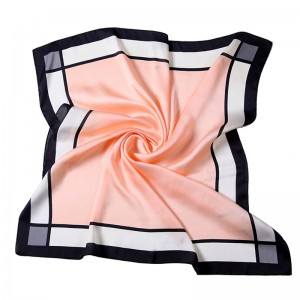 WENZHE New Style Women Simple Square Scarf 70*70 Printed Turkish Silk Twill Scarf Neckerchiefs